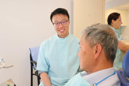Dr Tong with Patient